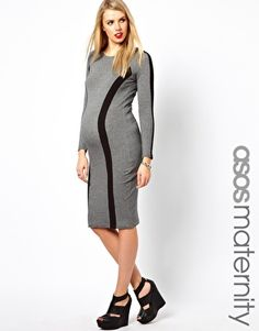 Asos maternity maxi dress with stud armhole
