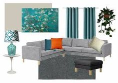 Image Result For Teal And Grey Living Room