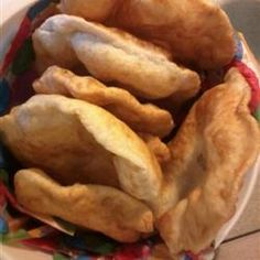 Fry bread *** A traditional North American treat. Serve with jam or honey. ---- (I made these, frying in my deep frier. I had them with butter and organic honey from the bees next door. Indian Food Recipes, My Recipes, Bread Recipes, Cooking Recipes, Favorite Recipes, Ethnic Recipes, Fried Bread Recipe, Indian Tacos, Baking Center