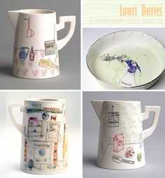 Handmade + Illustrated ceramics by Lowri Davies (Imaginative Bloom)