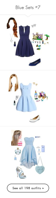 """""""Blue Sets #7"""" by briony-jae ❤ liked on Polyvore featuring Disney, Topshop, New Look, BERRICLE, OPI, Bling Jewelry, Neiman Marcus, Coloriffics, Forever New and Essie"""