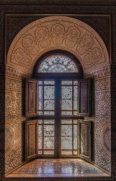 Vintage Moroccan Moorish window