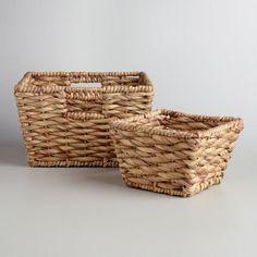 Natural Water Hyacinth Betty Baskets