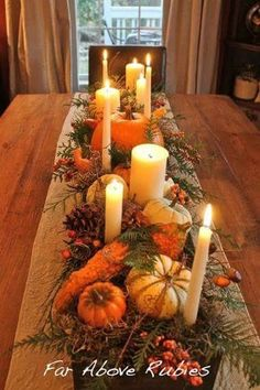 Gather all your pumpkins and gourds for one last hooray this Thanksgiving. I hav… Gather all your pumpkins and gourds for one last hooray this Thanksgiving. I have some beautiful Thanksgiving table ideas for you my friends… Thanksgiving Centerpieces, Rustic Thanksgiving, Thanksgiving Crafts, Fall Table Centerpieces, Friends Thanksgiving, Thanksgiving Table Centerpieces, Thanksgiving 2016, Holiday Tables, Holiday Decorations Thanksgiving