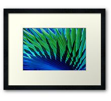 Palm Shadows Framed Print by Polka Dot Studio, #photographic #digital #contemporary #tropical in #blue and #green for wall #home #decor. Great for #modern #bedroom #office #apartment or special occasion #gift.