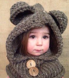 Knitting: Cozy Bear hooded Cowl Loom Knit pattern