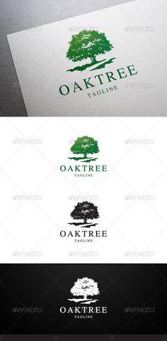 Oak Tree Logo | Logo design, Logo templates and Nature