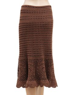 Crochet Clothing Downloads - Chocolate Drop Skirt