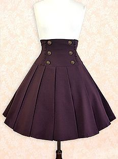 European Classic Skirt by Innocent World Again, black or bordeaux. love the high waist skirt i like this skirts Steampunk Costume, Steampunk Fashion, Steampunk Skirt, Gothic Steampunk, Steampunk Necklace, Steampunk Clothing, Victorian Gothic, Pretty Outfits, Cool Outfits