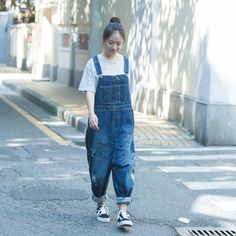 Material : denim Casual loose style Stretch: no stretch Two pockets on Both side Style :Harem pants Season: Spring autumn Free size(fit forinternational M/L Cotton Jumpsuit, Casual Jumpsuit, Autumn Casual, Cotton Linen, Blue Denim, Jumpsuits, Harem Pants, Overalls, Fashion Outfits