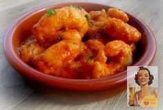 gambas con cognac tapas de mamá Yummy Appetizers, Appetizer Recipes, Cognac, Canapes, Antipasto, Curry, Brunch, Food And Drink, Cooking
