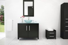 Special Offers - 35.5 Gemini Single Glass Vessel Sink Modern Bathroom Vanity Cabinet with Top For Sale - In stock & Free Shipping. You can save more money! Check It (December 21 2016 at 03:46PM) >> http://bathroomvanitiesusa.net/35-5-gemini-single-glass-vessel-sink-modern-bathroom-vanity-cabinet-with-top-for-sale/