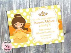 Princess Birthday Invitation - $15.00 - Save 30% with Coupon Code PIN30!