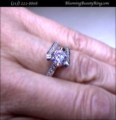 Customer engagement ring picture  http://www.BloomingBeautyRing.com