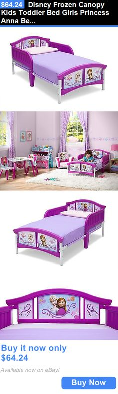 Kids Furniture: Disney Frozen Canopy Kids Toddler Bed Girls Princess Anna Bedroom Furniture BUY IT NOW ONLY: $64.24