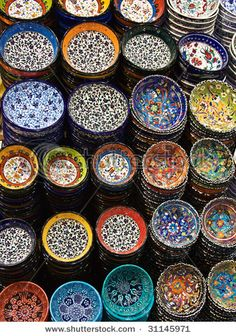 Turkish Bowls..brings back nice bazaar memories..also would look good as fabric in a quilt..check out spoonflower