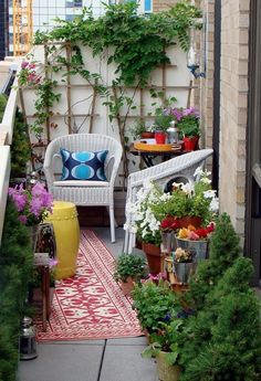 Tiny Patio Garden Ideas small patio garden ideas for a smaller garden take some foldable metal chairs use a colourful rug and a rolling cart for all the guests who come home Find This Pin And More On Balcony Gardens Small Balcony Decorating Ideas