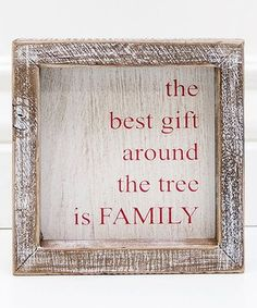 Love this 'Gift Around The Tree' Framed Wood Sign on #zulily! #zulilyfinds