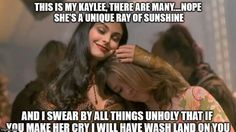 Inara & Kaylee. And Wash would totally land on you for it, too!