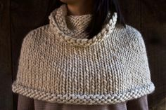 Mountain Capelet   Purl Soho - free pattern. Really expensive yarn, though! It's beautiful, but the yarn alone will be $100. . . . Just sayin'.