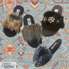 Faux Fur Slide Collection