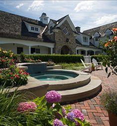 Spa Design. This is a gunite spa. #Spa