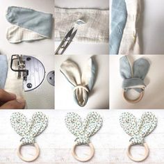 Greifling Hare Ears Instructions for self sewing for your babies - Diy Gifts Baby Sewing Projects, Sewing Hacks, Diy For Kids, Gifts For Kids, Diy Bebe, Baby Box, Rabbit Toys, Diy Gifts, Baby Shower Gifts