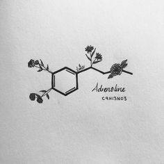 Chemistry Tattoo, Chemistry Art, Chemistry Drawing, Science Tattoos, Pencil Art Drawings, Art Drawings Sketches, Tattoo Drawings, Space Drawings, Skull Tattoos