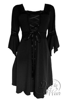 Black corset dress - Dare to Wear Renaissance Corset Dress Timeless Victorian Gothic Witchy Women's Gown for Everyday Halloween Cosplay Festivals – Black corset dress Gothic Korsett, Gilet Kimono, Black Corset Dress, Blue Corset, New Dress, Dress Up, Plus Size Corset, Renaissance Dresses, Sewing Projects