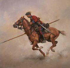 Lanceros de Guipuzcua 1834-39 Medieval Horse, Army History, Cowboy Art, Knights Templar, Napoleonic Wars, Military Art, Western Art, Native American Indians, Horse Riding
