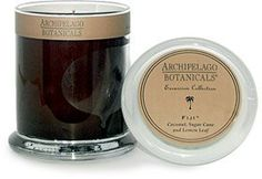 """""""Archipelago Botanicals Excursion Candle Jars - Fiji by Archipelago Botanicals."""" ~ My favorite candle...Ever! The candle is made from wax combined with natural essential oils, which makes it very fragrant. It burns long and evenly. The """"Fiji"""" scent is: coconut, sugar cane and lemon leaf, AmAziNG! I just ordered it on Amazon. ♥  http://www.amazon.com/dp/B00081N9P4/ref=cm_sw_r_pi_dp_cmodrb1GQVJAC ~"""