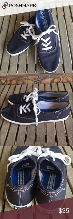 Keds Classic Navy Blue and White Sneakers Keds Classic Navy Blue and White Sneakers. Great shape! Worn once. So comfy and classic. White rubber part is a little dirty. Nothing major. #fashion sneakers, #athletic shoes, #canvas keds Shoes Sneakers