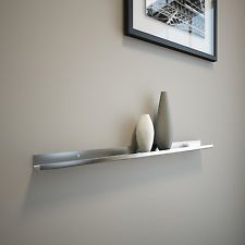 2ft Stainless Steel Floating Ledge for Photos and Pictures, Wall Shelf