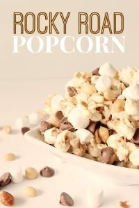 Six Sisters Rocky Road Popcorn on MyRecipeMagic.com.  We are totally addicted to this delicious popcorn!