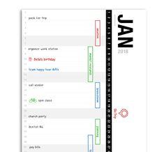 Erasable Whiteboard Linear Timeline Calendar Planner 2018 by Reundo Collection — Kickstarter Calendar Notebook, Timeline, Whiteboard, How To Plan, Collection, Erase Board