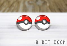 Hey, I found this really awesome Etsy listing at https://www.etsy.com/listing/169526510/pokeball-post-earrings-silver-stud