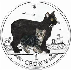 I.O.M 2012 Coloured Cat Crown in Pack    In 1988, the Isle of Man introduced the very first Cat coin which featured the Manx cat. To celebrate the 25th Anniversary of this series, the twenty-fifth coin will again feature the tailless Manx cat, and features a double Effigy of Her Majesty Queen Elizabeth II to celebrate her Diamond Jubilee. We are offering the standard cupro nickel crown in uncirculated and the coloured version in a blister pack. For any cat lovers we can offer