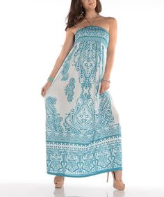 Look at this Shoreline Mint Paisley Halter Maxi Dress on #zulily today!