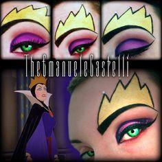 Halloween Makeup Ideas : Disney's Villain – The evil Queen Disney Eye Makeup, Disney Inspired Makeup, Halloween Make Up, Halloween Face Makeup, Halloween Ideas, Evil Queen Makeup, Make Up Art, How To Make, Creative Eye Makeup