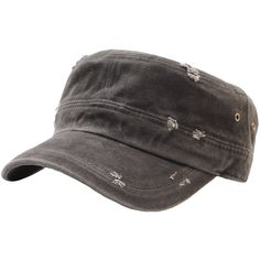 A49 Vintage Washing Distressed Urban Basic Army Cap Cadet Military Hat  Truckers - Gray - CN12G22RMW5 - Hats   Caps 4251263f68d8
