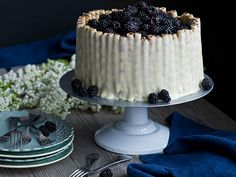 Blackberry and White Chocolate Layer Cake. So beautiful.