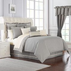 Top Country Bedroom Ideas For Couples Decor Beds Guide 17 Damask Decor, Damask Bedding, Grey Comforter Sets, Grey Bedding, Bedding Sets, Queen Bedding, Fluffy Bedding, Waterford Bedding, Luxury Bedding Collections