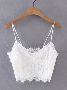 To find out about the Floral Lace Cropped Cami Top at SHEIN, part of our latest Tank Tops & Camis ready to shop online today! Cami Tops, Cami Crop Top, Lace Crop Tops, Crop Tank, White Lace Crop Top, Lace Tank, White Tank, Crop Top Outfits, Trendy Outfits