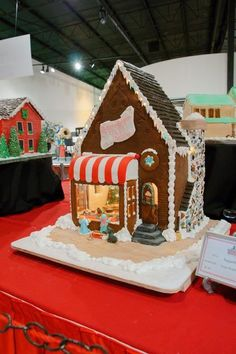 * Sugar Sugar Bakery from the front...we were obsessed with having a scene INSIDE the gingerbread house.  Not easy