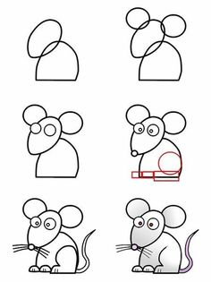 1000 images about arts crafts on pinterest how to draw for How do you draw a mouse