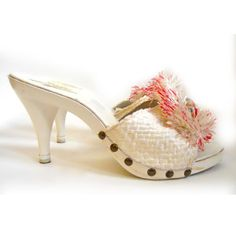 '60s Tiki Tassle High Heel Mules, $94, now featured on Fab. (from Dorothea's Closet)