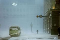 """""""Below Zero"""": French Photographer Christophe Jacrot Captures Russian City Of Norilsk Covered In A Snow Blizzard Color Photography, Street Photography, Film Photography, Christophe Jacrot, Snow Blizzard, Look Dark, Modernisme, French Photographers, Foto Art"""