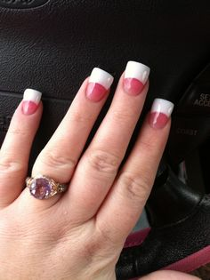 Dark pink and glittery white Duck Nails! Fabulous Nails, Gorgeous Nails, Pretty Nails, Matte Acrylic Nails, French Acrylic Nails, Wedding Day Nails, Wedding Nails Design, Duck Nails, Curved Nails