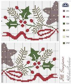épinglé par ❃❀CM❁✿Schema dell' asciuga-piatti, offerto da '' F. Xmas Cross Stitch, Cross Stitch Needles, Cross Stitch Rose, Cross Stitch Charts, Cross Stitch Designs, Cross Stitching, Cross Stitch Embroidery, Embroidery Patterns, Cross Stitch Patterns
