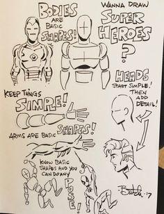Cartoon Drawing Tips - Drawing On Demand Drawing Superheroes, Drawing Cartoon Characters, Chibi Characters, Character Drawing, Cartoon Drawings, Character Design, Character Creation, Estilo Dark, Manga Tutorial